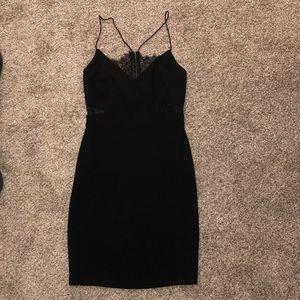 TOBI Black Lace Cutout Dress